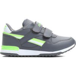 Szaro-Zielone Buty Sportowe Now You. Szare buty sportowe chłopięce Born2be, z materiału, z okrągłym noskiem. Za 49,99 zł.