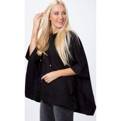 Kurtki i płaszcze damskie: Bluza ponczo czarna MP17411