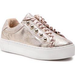 Sneakersy GUESS - FL5MEZ LEL12 PLATI GOLD. Czarne sneakersy damskie marki Guess, z materiału. Za 579,00 zł.