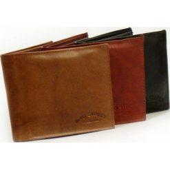 Brązowy Portfel męski Bag Street - skóra cielęca. Brązowe portfele męskie marki Bag Street, z materiału. Za 44,90 zł.
