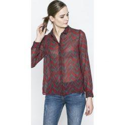 Vero Moda - Koszula Katinka. Szare koszule damskie marki Vero Moda, l, z poliesteru, casualowe, z klasycznym kołnierzykiem, z długim rękawem. W wyprzedaży za 34,90 zł.