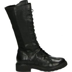 Kozaki - 132311 NERO. Czarne buty zimowe damskie marki Venezia, z materiału, na obcasie. Za 639,00 zł.