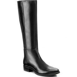 Oficerki GEOX - D Mendi ST P D3490P 00043 C9999 Black. Czarne buty zimowe damskie marki Nessi, ze skóry, na niskim obcasie. W wyprzedaży za 419,00 zł.