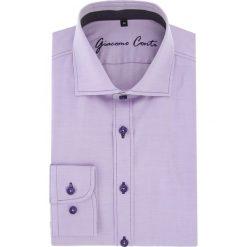 Koszula APOLLO 16-06-05-K. Fioletowe koszule męskie na spinki Giacomo Conti, m, z bawełny, z włoskim kołnierzykiem. Za 259,00 zł.