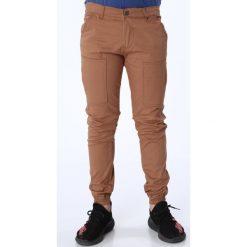 Chinosy chłopięce: Spodnie chłopięce z gumkami karmelowe NDZ105