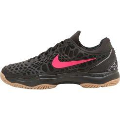 Buty trekkingowe męskie: Nike Performance NIKE AIR ZOOM CAGE 3 HC PRM Obuwie do tenisa Outdoor black/gum light brown/clear jade/black