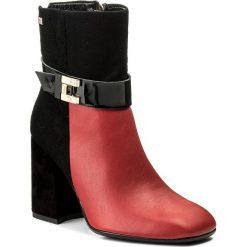 Buty zimowe damskie: Botki MACCIONI - 6050 Czarny Czerwony