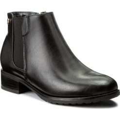 Botki JENNY FAIRY - WYL1092A-1 Czarny. Czarne buty zimowe damskie Jenny Fairy, z materiału, na obcasie. Za 99,99 zł.