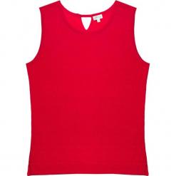 Top kaszmirowy w kolorze czerwonym. Czerwone topy damskie marki Ateliers de la Maille, z kaszmiru, z okrągłym kołnierzem. W wyprzedaży za 272,95 zł.