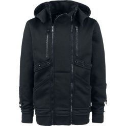 Chemical Black Recal Top Bluza z kapturem czarny. Czarne bluzy męskie rozpinane Chemical Black, s, w paski, z kapturem. Za 199,90 zł.