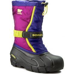 Śniegowce SOREL - Youth Flurry NY1885 Grap Juice/Bright Plum 484. Fioletowe buty zimowe chłopięce Sorel, z gumy, na niskim obcasie. W wyprzedaży za 189,00 zł.