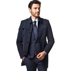 Płaszcze męskie: płaszcz ermant granatowy 0001