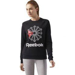 Bluza Reebok W Startcrest Crewneck (CY4713). Czarne bluzy damskie marki Reebok, z bawełny. Za 103,50 zł.
