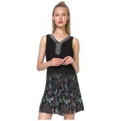 Desigual Sukienka Damska Sophia 40 Czarny. Czarne sukienki Desigual. W wyprzedaży za 344,00 zł.
