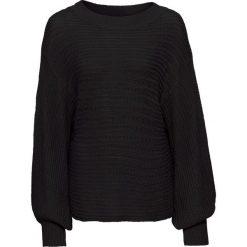 Swetry oversize damskie: Sweter oversize w ażurowy wzór bonprix czarny