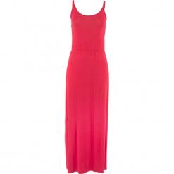 Długa sukienka z lejącej wiskozy bonprix czerwony. Czerwone długie sukienki bonprix, z wiskozy, z długim rękawem. Za 44,99 zł.