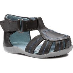 Sandały męskie skórzane: Sandały KORNECKI – 03140 N/Grey/S