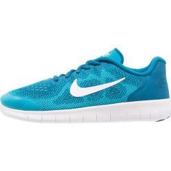 Nike Performance FREE RUN 2  Obuwie do biegania neutralne green abyss/metallic summit/white/neo turquoise. Niebieskie buty sportowe chłopięce marki Nike Performance, z materiału, do biegania. W wyprzedaży za 305,10 zł.
