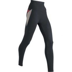 Legginsy sportowe, długie LEVEL1 bonprix czarno-szary melanż. Czarne legginsy sportowe damskie bonprix, melanż, na fitness i siłownię. Za 89,99 zł.
