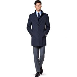 Płaszcz Granatowy Massimiliano. Niebieskie płaszcze na zamek męskie marki LANCERTO, na wiosnę, m, z jeansu, biznesowe. W wyprzedaży za 559,90 zł.