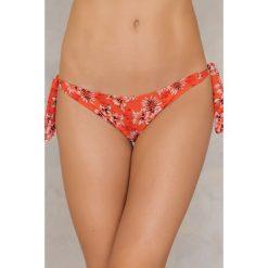 Stroje kąpielowe damskie: Less Is More Klasyczny dół bikini – Orange,Multicolor