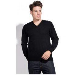 Swetry klasyczne męskie: William De Faye Sweter Męski M Czarny