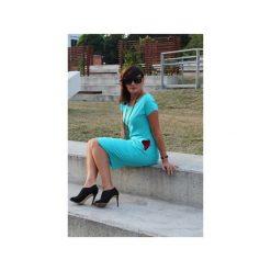 Sukienka sportowa z kieszeniami. Niebieskie sukienki letnie marki Szarymary, xs, z bawełny, sportowe, ołówkowe. Za 119,00 zł.