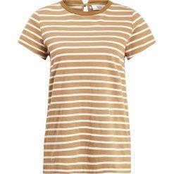 Noa Noa STRIPED Tshirt z nadrukiem art yellow. Żółte bluzki asymetryczne Noa Noa, xxl, z nadrukiem, z bawełny. Za 229,00 zł.