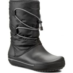 Śniegowce CROCS - Crocband II.5 Cinch Boot W 201383 Black/Charcoal. Czarne buty zimowe damskie marki Crocs, z materiału. W wyprzedaży za 229,00 zł.
