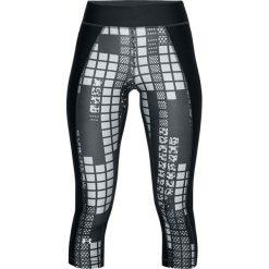 Spodnie damskie: Under Armour Legginsy damskie HG Print Armour Capri czarne r. XS (1310667-017)