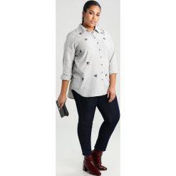Koszule wiązane damskie: Glamorous Curve BEE EMBROIDERED Koszula light grey