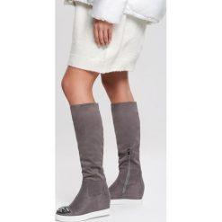 Nowe buty kozaki markowe Eva Turner 37 szpic braz