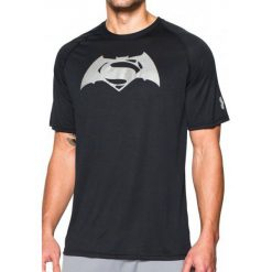 Koszulki sportowe męskie: Under Armour Koszulka męska Superman VS Batman SS T-BLK//SLV czarna r. L (1273663-001)