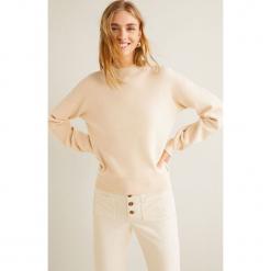 Mango - Sweter Clean3. Szare swetry klasyczne damskie Mango, l, z dzianiny. Za 119,90 zł.