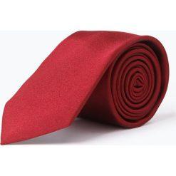 Calvin Klein - Krawat jedwabny męski, czerwony. Czerwone krawaty męskie Calvin Klein, z jedwabiu, eleganckie. Za 179,95 zł.
