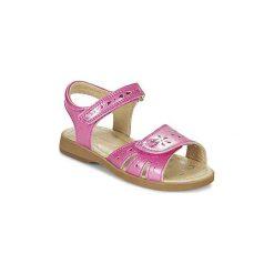 Sandały Dziecko  Start Rite  HONEY SUCKLE. Czerwone sandały dziewczęce marki Born2be, z materiału, z otwartym noskiem, na zamek. Za 143,20 zł.