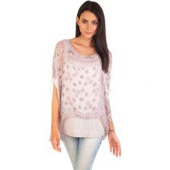 Bluzki asymetryczne: Koszulka w kolorze jasnoróżowym