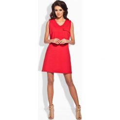 Sukienki: Klasyczna sukienka w typie safari czerwony