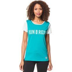 """Koszulka funkcyjna """"Cutback"""" w kolorze turkusowo-miętowym. Niebieskie topy sportowe damskie marki Roxy, xs, z materiału. W wyprzedaży za 75,95 zł."""