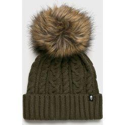 The North Face - Czapka. Brązowe czapki zimowe damskie The North Face, na zimę, z dzianiny. Za 199,90 zł.
