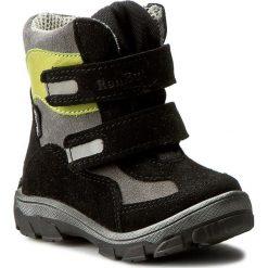 Buty zimowe chłopięce: Śniegowce RENBUT – 12-1463 Czarny/Popiel
