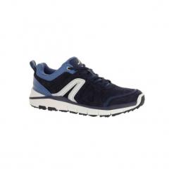 Buty do szybkiego marszu HW 540 damskie skóra dżins. Niebieskie buty do fitnessu damskie marki DOMYOS, z gumy. W wyprzedaży za 149,99 zł.