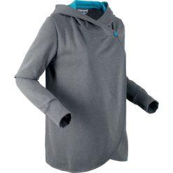 Bluza rozpinana, długi rękaw, z kolekcji Maite Kelly bonprix dymny szary melanż. Szare bluzy rozpinane damskie bonprix, melanż, z długim rękawem, długie. Za 109,99 zł.