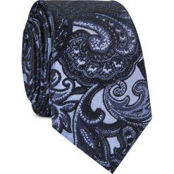 Krawat jedwabny KWWR000351. Niebieskie krawaty męskie Giacomo Conti, z jedwabiu. Za 129,00 zł.