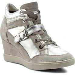 Sneakersy GEOX - D Eleni C D6267C 0KY22 C0898 Silver/Lt Grey. Szare sneakersy damskie Geox, z materiału. W wyprzedaży za 289,00 zł.