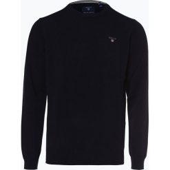Gant - Sweter męski, niebieski. Niebieskie swetry klasyczne męskie GANT, l, z haftami, z wełny. Za 449,95 zł.