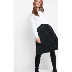 Spódniczki: Plisowana spódnica z ekozamszu