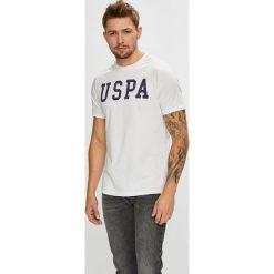 U.S. Polo - T-shirt. Szare koszulki polo marki U.S. Polo, l, z nadrukiem, z bawełny. W wyprzedaży za 99,90 zł.