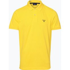 Gant - Męska koszulka polo – Rugger, żółty. Żółte koszulki polo marki GANT, m, prążkowane. Za 299,95 zł.