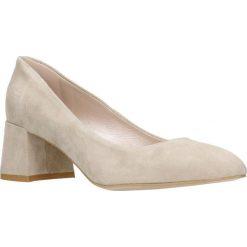 Czółenka HIROMI. Brązowe buty ślubne damskie Gino Rossi, ze skóry, na słupku. Za 179,90 zł.